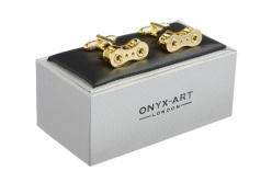 Gold Coloured Bike Chain Cufflinks